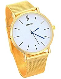 Slim Thin GOLD Smart Watch Present Gift Birthday Xmas Clear Dial UK Seller