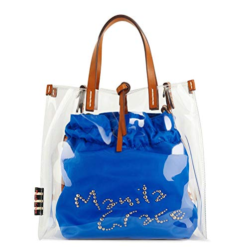 35ef394b81 MANILA GRACE - Transparent Manila Grace Medium Felicia bag - P9 W  B033EUMD660 BLUETTE - UNI