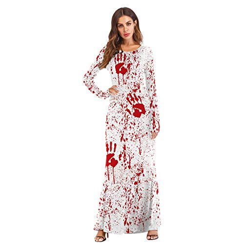 Frauen Halloween Pulloverfrauen Männer Halloween Jumperhalloween Kostüm Cos Verkleiden Ball Western Ghost Festival Kürbis Licht Langarm T2 Kleid, S/M 3D (Verkleiden Halloween Männer)