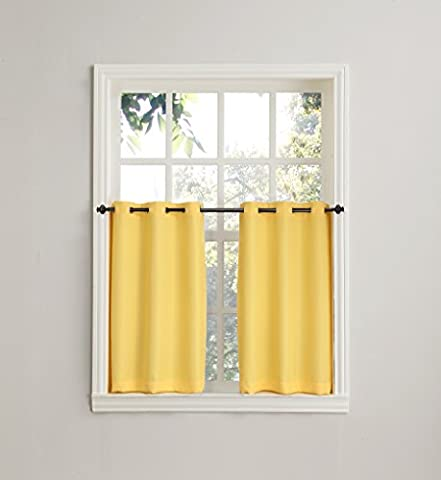 No. 918 Montego Casual Textured Kitchen Curtain Tier Pair, 56