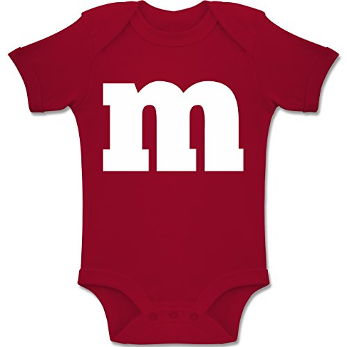 Shirtracer Karneval und Fasching Baby - Gruppen-Kostüm m Aufdruck - 3-6 Monate - Rot - BZ10 - Baby Body Kurzarm Jungen Mädchen (Kostüm Für Gruppen Von Drei)
