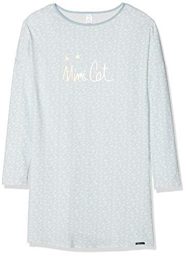 Skiny Mädchen Lovely Dreams Sleep Girls Sleepshirt Langarm Nachthemd, Mehrfarbig (Celestialblue Garden 6170), 152