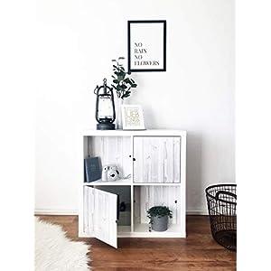 Regaleinsatz passend für Ikea Kallax und Expedit Regal Fächer   Als stufenlos verschiebbares Cover oder Tür   Nutzbar als Rückwand Raumtrenner Ordnung Deko  Ohne Schrauben   33,5x33,5x0.5cm  Holz