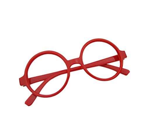 Cosanter Klassische Retro Brille Rund Keyhole 40er 50er Jahre Vintage Look Baby Brillengestelle, Rot