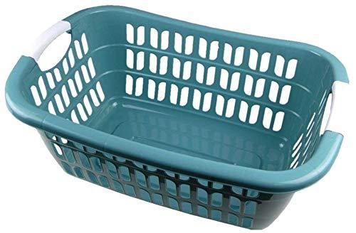 Centini WÄSCHEKORB WÄSCHEKÖRBE Kunststoff WÄSCHE Korb Wäschekorb Plastik (Patinagrün)
