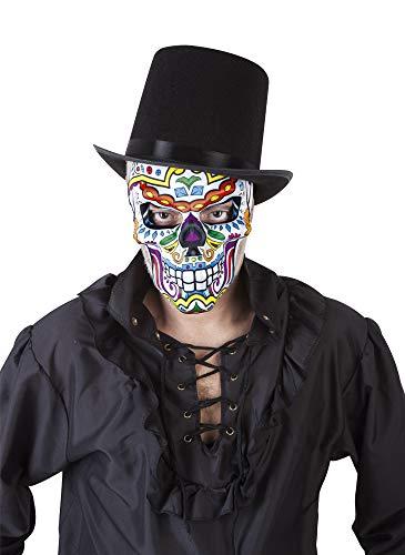 El Día de los Muertos der Tag der Toten - Maske Katrin Skull, Mehrfarbig (Rubies S3190)