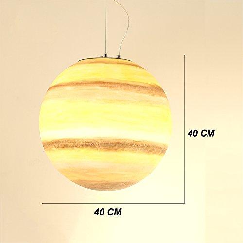 OOFAY Die Vast Universe-Serie Von Pendelleuchte, Glass Steel Made Aus, Inspirieren Kinder Phantasie,Saturn,40CM -