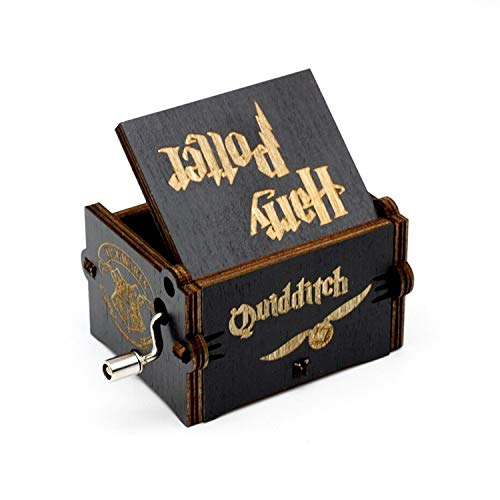 su ma Caja de música Harry Potter Pure Hand- classical Caja de música Hand- wooden Artesanía de madera creativa Best Gifts