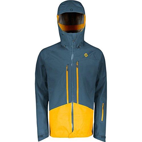 Scott Explorair 3L Kapuzenjacke-Herren, Herren, Nightfall Blue/Harvest Yellow, X-Large -
