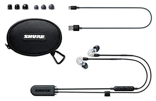 Shure SE215 Bluetooth 5.0 In Ear Kopfhörer mit Sound Isolating Technologie und Mikrofon für iPhone & Android - Premium Kabellos Ohrhörer mit warmem & detailreichem Klang - Klar - 3