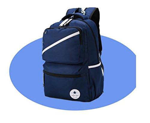 Go Further Hochleistungs-lässigen Stil verschleißfesten Laptop blauen Rucksack für die Schule Blau