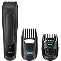 Braun BT5050 – Recortadora de barba recargable de precisión con ajustes de longitud cada 0,5 mm, color negro