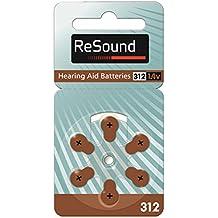 6x Baterías Pilas de Audífono 312 para Aparato Auditivo