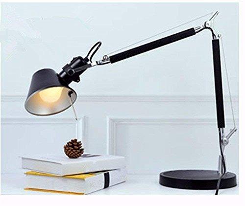 MKKM Tischlampe-LED Leselampen Licht Büroarbeit und Studie Schreibtisch Falten Langarm Tischlampe