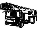 plot4u Wandtattoo Feuerwehr Löschzug in 9 Grö...Vergleich