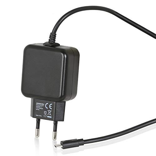 Wicked Chili Micro USB Ladegerät 3,1 A Ersatz-Netzteil für Raspberry Pi 3 Modell B + (B Plus), Raspberry Pi Zero, Pi Zero WH und Pi Compute Module 3 (5V 3100 mA Steckernetzteil Adapter) schwarz