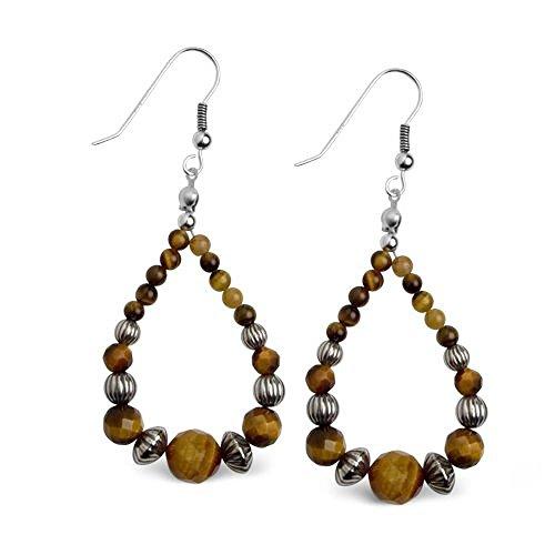 sterling-silver-tiger-eye-dangle-loop-earrings