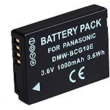 BPS 1000mAh DMW-BCG10E BCG10PP Batterie Li-ion de Remplacement Rechargeable avec Infochip pour Panasonic Lumix DMC-TZ / ZR / ZS / ZX,Compatible avec Chargeur de Batterie Panasonic Lumix DE-A66 DE-A66A