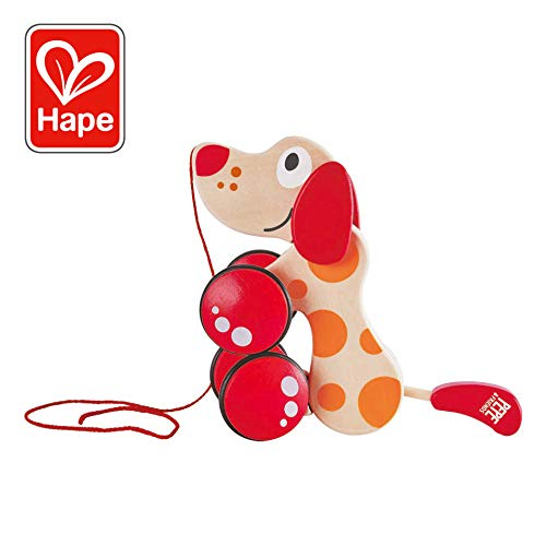 Hape E0347 - Nachziehhund Pepe (Gummi-ente Baby-buch)