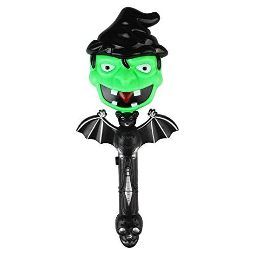 LCLrute Halloween-Spielzeug-Leuchtstab für Halloween Halloween-Blinkenden Zauberstab LED Leuchten Zauberstab (C)