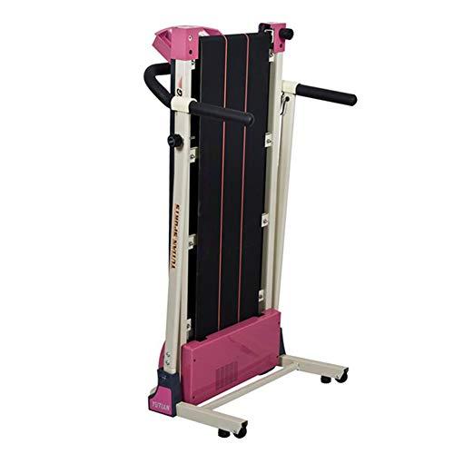 KuaiKeSport Laufband Elektrisch Klappbar,Beruf Sportgerät für Zuhause LCD-Display Elektrisches Fitnessgerät Heimtrainer Maximale Tragfähigkeit 120 kg Wenig Lärm,Black+pink