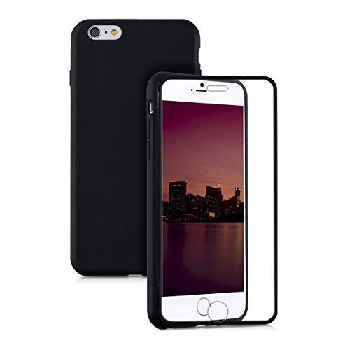 Kwmobile cover in silicone per apple iphone 6 plus / 6s plus - custodia full body case protezione integrale per cellulare nero trasparente