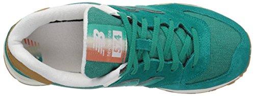 New Balance - Wl574seb, Scarpe da ginnastica Donna Green (Galapagos)