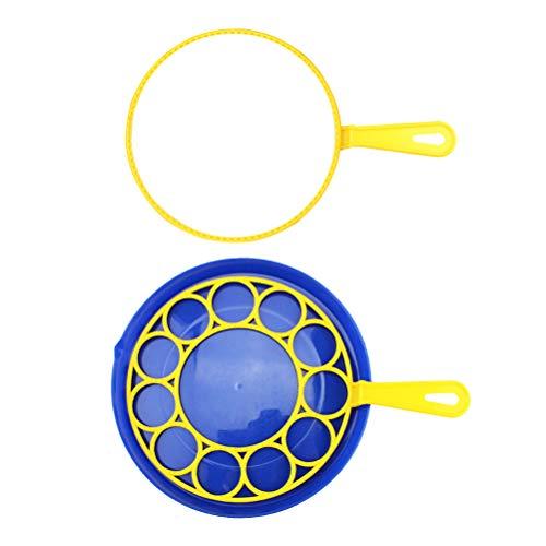 TOYANDONA 3 Stücke Blase bläst stabförmige Blase gebläse Set Blase Platte Werkzeug für Kinder Kinder (Platte + Hoop) -
