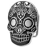 Belt Buckle Sugar Skull Black Mexican Katrina Dia De Muertos Day Of The Dead