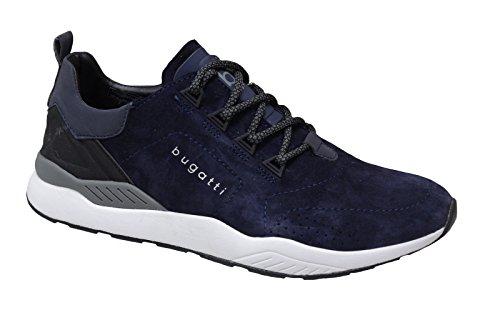 bugatti DY0308-5-425 Herren Schnürhalbschuh sportlicher Boden sportliche Optik Blau (Dunkelblau)