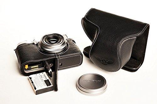 TP handgemachte echte Echtleder Voll Kamera Tasche Abdeckung für FUJIFILM X100T Black Bottom Öffnungs Version