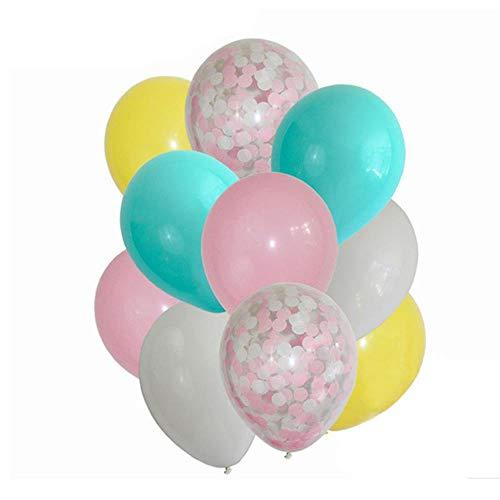 HuXwei 12 stücke Konfetti Ballon Set Geburtstag Party Hochzeit Baby Shower Party Konfetti Ballon Dekoration Partei Liefert Dekoration-hunse 12 stücke