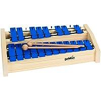 Goldon 11128 platos de Soprano de sonido metalófono - azul