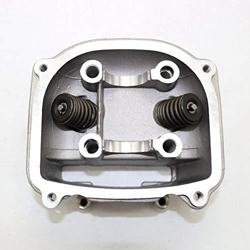 Yaoaomon Zylinderkopfbaugruppe Motorradmotor Zylinderkopf Viertaktzubehör Silber