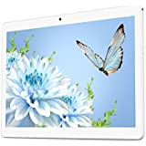 "Android Tablet 10 Inch With Dual Sim Card Slots YELLYOUTH 10.1"" IPS MTK Octa Core 4GB RAM 64GB ROM WiFi Bluetooth GPS 3G Unlocked Phone Tablet PC (Silver)"