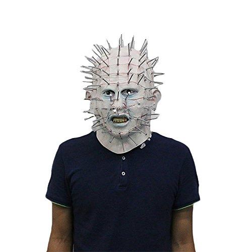 nihiug Haunted Enchantress Hood Maske Hellraiser Nail Man Halloween Horror Artikel Hell City Zombie,NailMan-OneSize