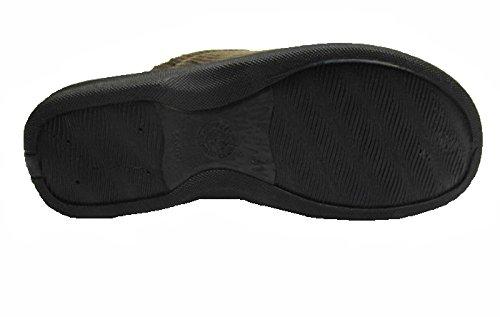 Herren Kord Hausschuhe Pantoffeln Gr.40 - 46 Schwarz