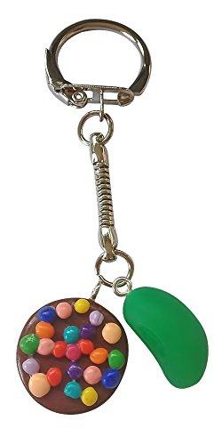 Candy Crush Inspiriert Schlüsselring, Grün (Jelly Bean Charme)