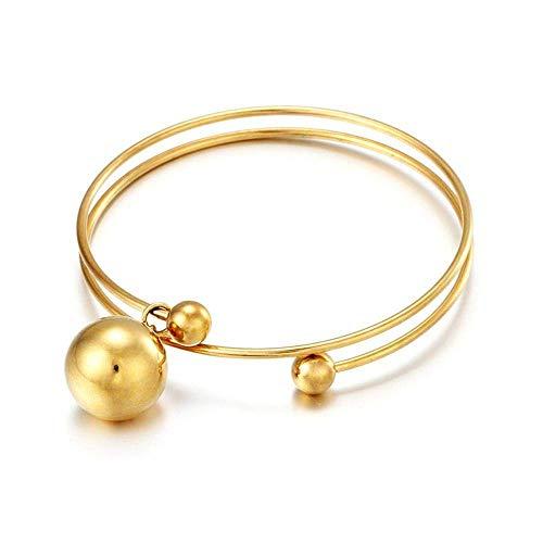 Jinmi bracciale con ciondolo di apertura in acciaio al titanio. anello coreano a forma di semplice anello sottile in oro