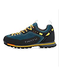 Cuero de hombres Zapatillas antibalas  Modelos de otoño e invierno Zapatos al aire libre  Antideslizante Transpirable ?Azul Rojo Verde? , tehran yellow , 43