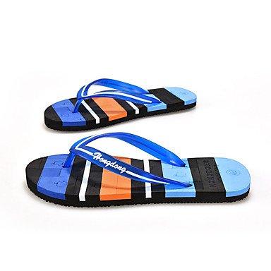 Slippers & amp da uomo;Comfort PU Estate casuale piani del tallone Sandali Giallo Marrone Blu sandali US9.5 / EU42 / UK8.5 / CN43