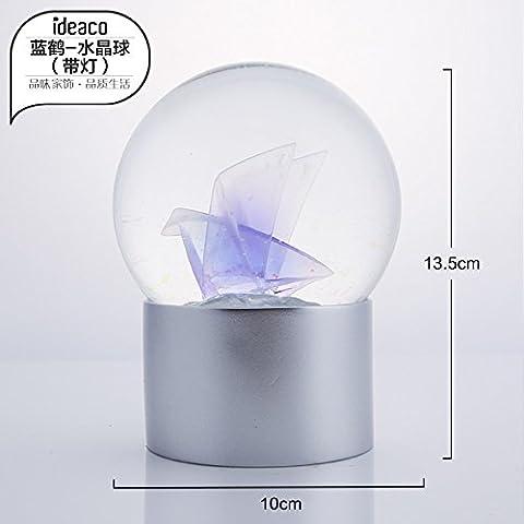 Geschenk süße Tiere glas kugel Home Decor, eingerichtet mit hellen Blue Crane -