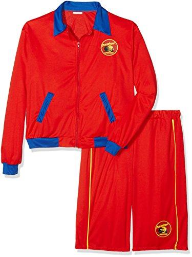 Smiffys, Herren Baywatch Strand Rettungsschwimmer Kostüm, Jacke und Lange Shorts, Größe: L, 32893