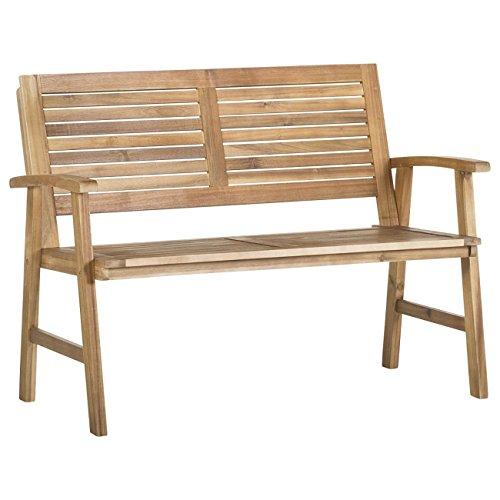 Gartenbank Holz Akazie 2-Sitzer OUTLIV. Bali Holzbank massiv 120 cm Sitzbank Garten