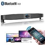 Dual-Horn Hi-Fi Stereo Home Theater Bluetooth Soundbar, USB Powered 5W Subwoofer w/Microphone Kopfhörer Jack Support LINE IN Music Play