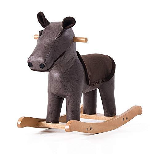 für Kinder Kinderschaukelstuhl Hippo Massivholz Tierhocker Hocker Fußhocker Spielzeug Trojaner Niedlicher Schaukelstuhl Kleine Bank ()