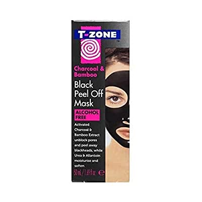 T ZONE CHARCOAL & BAMBOO BLACK PEEL OFF MASK -alcohol free- unblock pores and peel away blackheads by Brodie & Stone