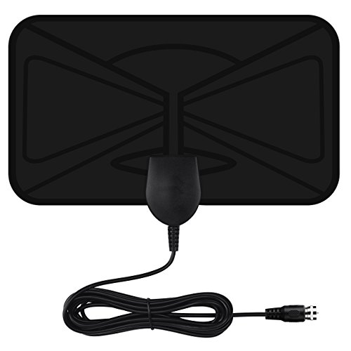 VicTsing TV Antenna, HDTV Indoor Antenna, 40KM's Largest Reception Range, 3M High Performance Cables, Get More Free TV Channels, Easy to Use and Install, Durable and Rugged