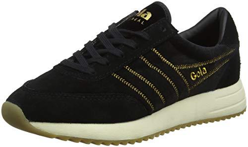 Gola Damen Montreal Velvet Sneaker, Schwarz (Black BB), 41 EU Black Velvet Sneakers