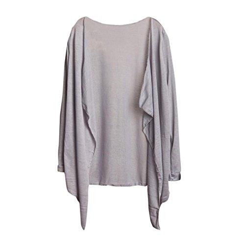 AmazingDays Chemisiers T-Shirts Tops Sweats Blouses,Femme Long Cardigan Fin Modale Vêtements de Protection Solaire Tops J